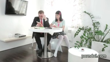 Ideal schoolgirl is seduced and fucked by her older teacher