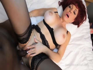 Redhead MILF Addicted To Black Cocks