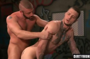 Muscle gay oral sex with cumshot 1