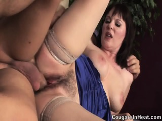 Mom Fucked Hard In Her Hairy Vagina