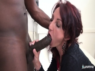 La Cochonne - Slutty French Mature Newbie Gets Drilled In Pussy And Ass By BBC