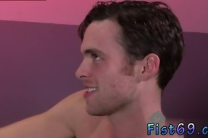 Hot naked guys fisting gay Axel Abysse crouches on a fisting