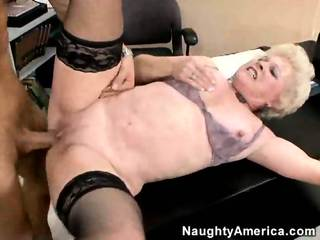Mature Lady Fucks Young Cock
