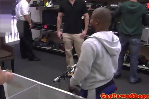 Black Guy Sucks Some Dick For A Deal At The Pawn Shop