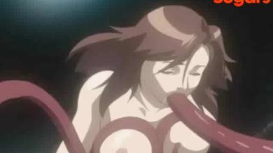 Gagged hentai girl gets fucked by a tentacled monster
