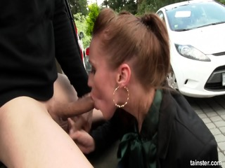 Fully Clothed Babe Fucked Hard In The Back Of A Car