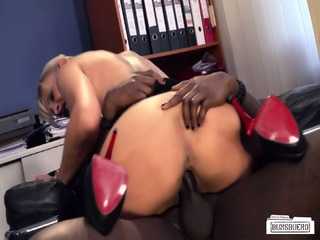 Bums Buero - Dirty German MILF Secretary Gets Pleased By BBC In Hot Interracial Action