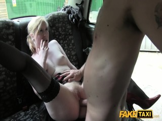 Amateur Blonde Takes Taxi Driver's Dick