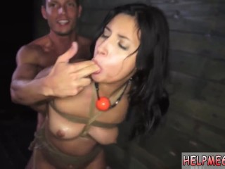 Breath play bondage and caged slave pov and extreme fucking squirting and
