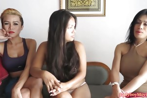 Ladyboy Ice Interview and Solo Stroking
