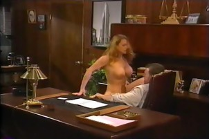 Sexy nurse gives the doctor hot blowjob in his office