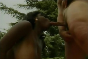 Curvy ebony beauty takes a big cock from behind