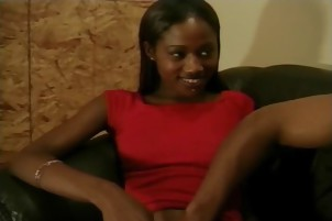 Stunning ebony woman gets her pussy filled with dick