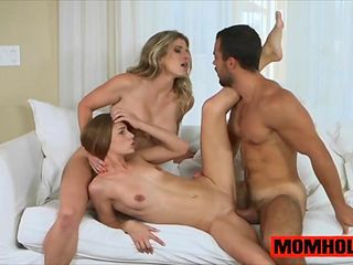 Sydney Cole and MILF mom Cory Chase share bf dick