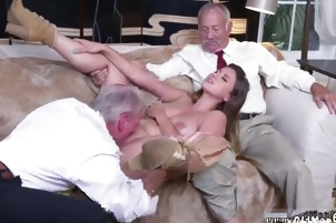 girl licks old ass Ivy impresses with her phat melons and ass