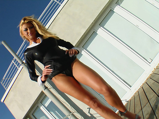 Blonde MILF Brigita gets tag teamed and double penetrated