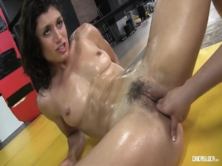 Chicas Loca - Hot Public Fuck With Oiled Up Spanish Lesbians Banging In The Boxing Ring
