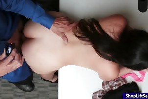 Big nipples thief Luna Eve pussy screwed by nasty LP officer