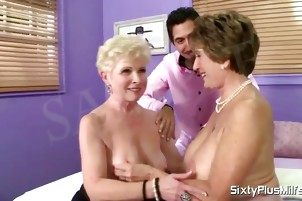 Lesbians love the taste of cock in their pussy