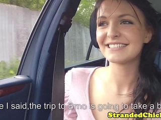 Hitchhiking czech loves stroking drivers cock