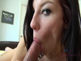 Girlfriend Gives Nice Footjob And Gets Creampied