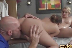 Vanessa Cage August Ames threesome
