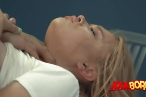 Relentless blonde got her mouth fucked full pretty hard
