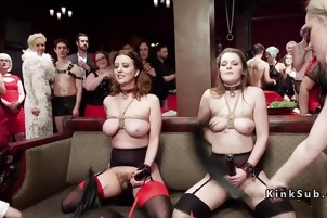 Orgy bdsm party with spanking and vibrating