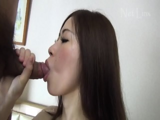 Creampie For Charming Asian Brunette With Hairy Pussy
