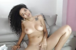 Spreading And Pussy-Spreading Porn Vid Of A Luxury Big Tits Camgirl
