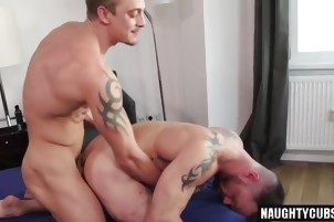 Tattoo gay flip flop and cumshot cc