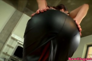Glamour euro assfucked after sucking BBC