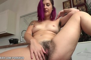 KoKo Kitty with her hairy pussy ready for you