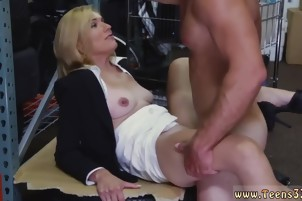 Blond milf fucked in a pawn store and self filmed public firs