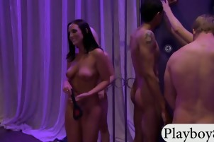 Ladies had fun in a party and one of them gets fucked