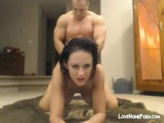 Wife Get Hard Doggie Style Fuck