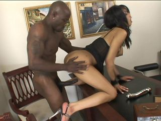 BBC businessman and his secretary meet in his office for a dirty little fling