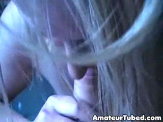 Blonde wife blowjob amateur
