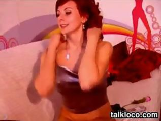 Sexy Red Haired Mom Strips