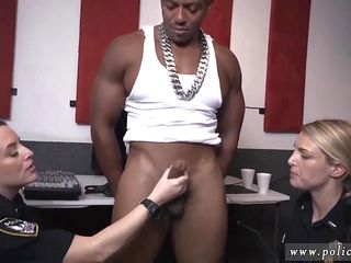 Fake cop blonde outdoor and shemale police Raw movie takes hold of police boning a