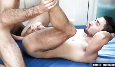 Big dick gay anal sex with massage