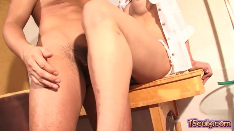 Japan shemale hardcore anal with creampie