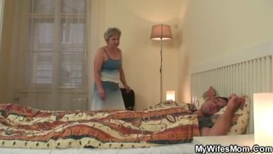 Mother in law forces him doggy-fucks her